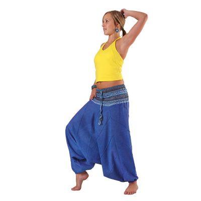 Pantaloni harem Perempat Pirus | UNISIZE