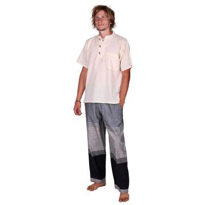 Kurta Pendek Putih - camicia da uomo con maniche corte   S, M, L, XL, XXL, XXXL