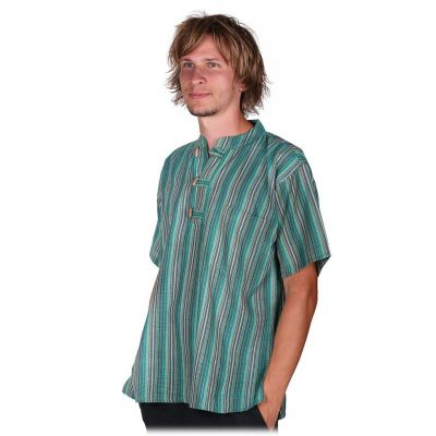 Kurta Pendek Harris - camicia da uomo con maniche corte   S, M, L, XL, XXL, XXXL