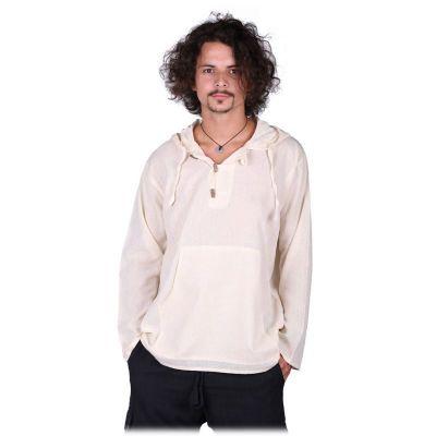 Kurta Ganet Putih - camicia a maniche lunghe da uomo   M, XXL, Giacca M, Giacca L, Giacca XL, Giacca XXL