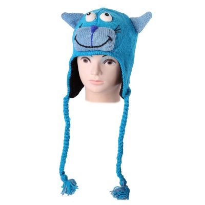 Cappello di lana Turchese Cat   S, M, L