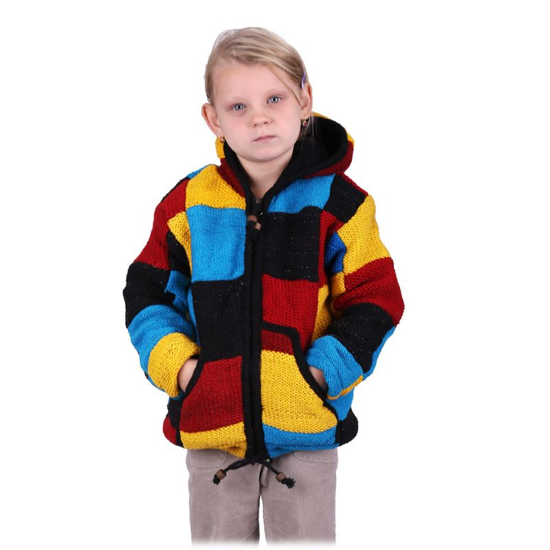 Maglione in lana Color Cubes