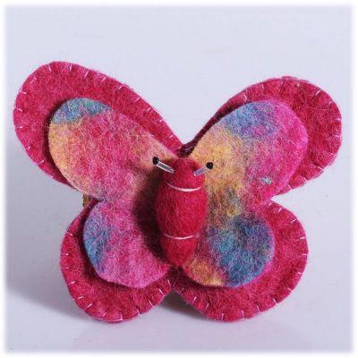 Spilla Farfalla Rosa