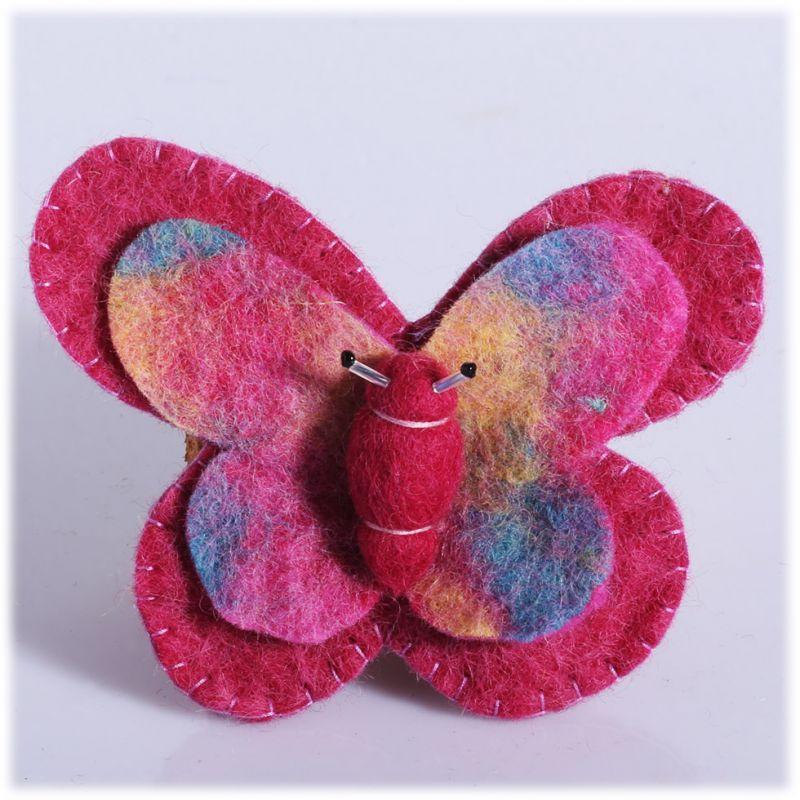 Spilla in feltro Farfalla Rosa