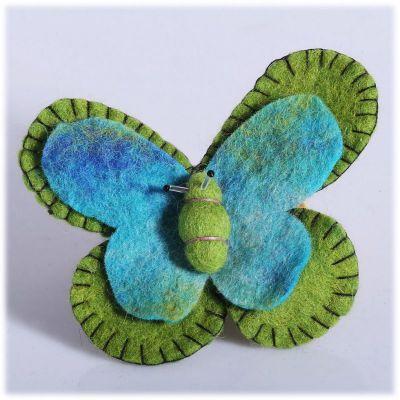 Spilla Farfalla Verde-turchese