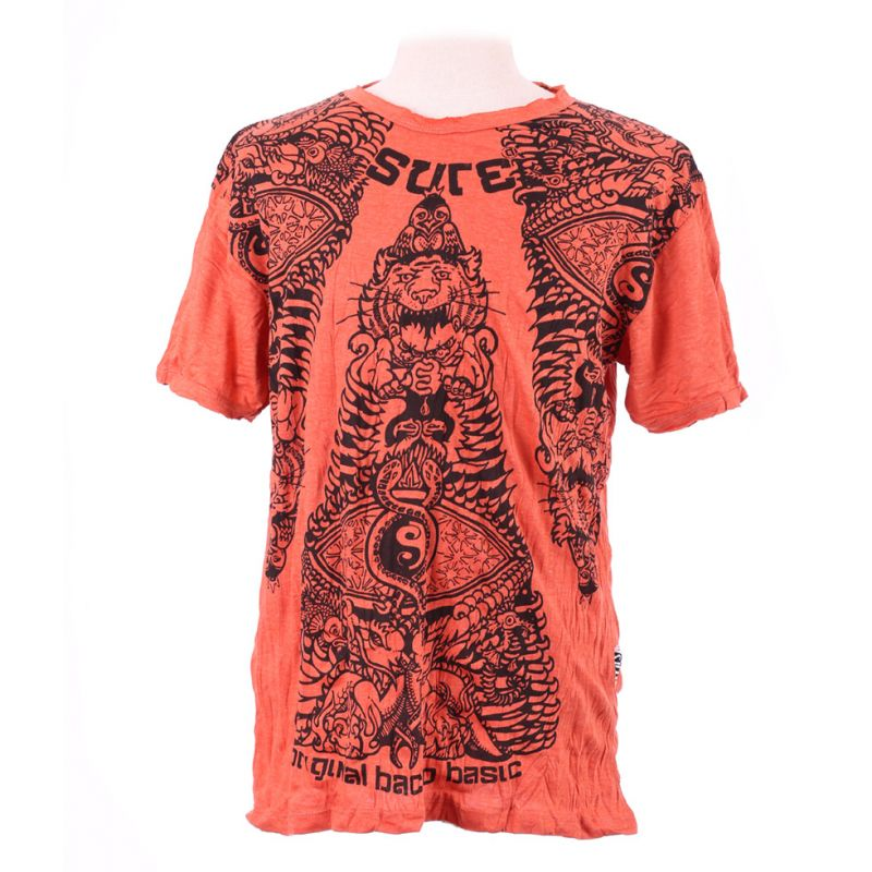 T-shirt da uomo Sure Animal Pyramid Orange