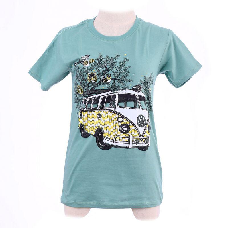 Maglietta da donna Hippies Bus Green Thailand