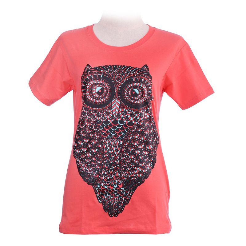 Maglietta da donna Big Owl Pink