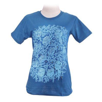 T-shirt Twelve Owls Turchese