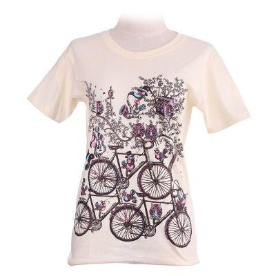 T-shirt Biciclette Giallo Chiaro