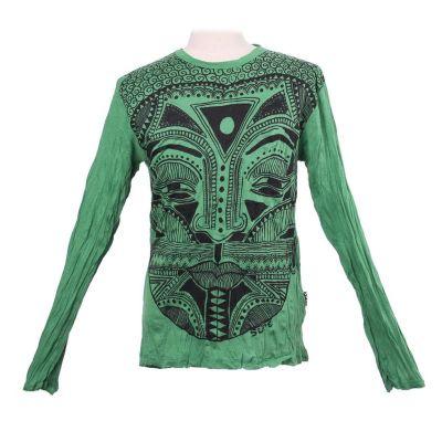 T-shirt Khon Mask Green - manica lunga