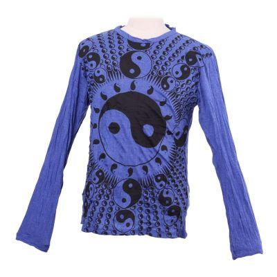 T-shirt Yin&Yang Blue - manica lunga