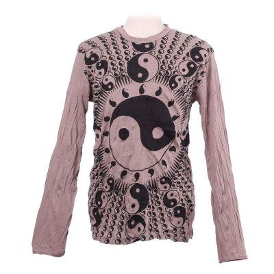 T-shirt Yin&Yang Brown - manica lunga