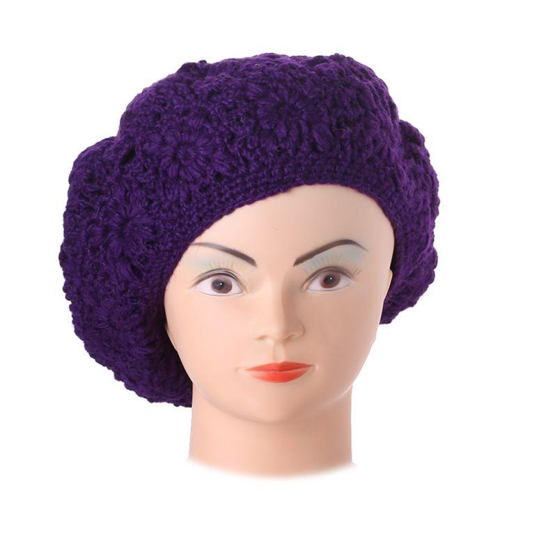 Berretto all'uncinetto Laras Purple