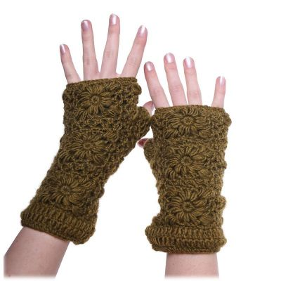 Scaldamani Bardia Khaki   guanti senza dita, set archetto e guanti senza dita